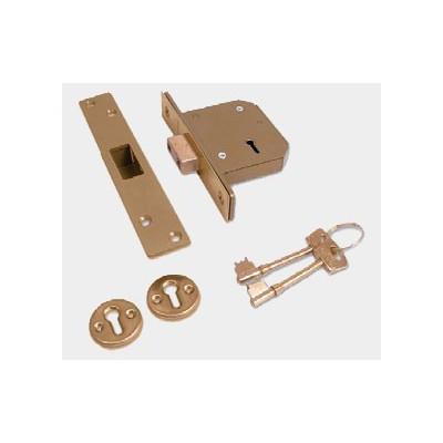Chubb (Union) 3G115 5 Lever Mortice Deadlock (Brass)