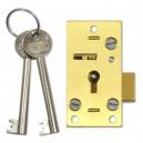 2  Lever Straight Cupboard Lock