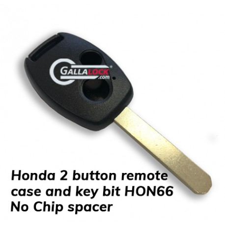Honda  2 button Remote - CASE ONLY (no chip slot)